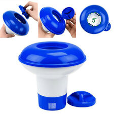 Swimming Pool Spa Chlorine Bromine Chemical Tablet Case Floater Dispenser 5 inch