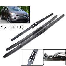"26""14""13"" Front Rear Windshield Wiper Blades Fit For Hyundai Santa Fe DM 2012-"