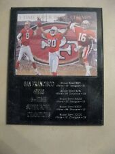 San Francisco 49ers 5x Super Bowl Champs statistics plaque - New Lower Pricing!!