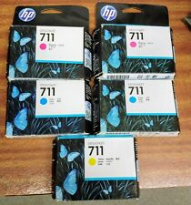 HPDesignjet 711 1 Yellow 2 Magenta 2 Cyan Ink Sealed. 2018 Date fits T120 T520
