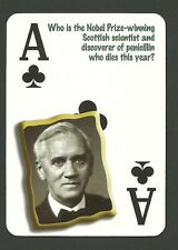 Sir Alexander Fleming Discoverer of Penicillin Neat Playing Card #5Y5