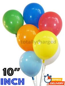 "100 LARGE PLAIN 10"" BALLOONS BALLONS helium BALLOONS Quality Bday Wedding Decor"
