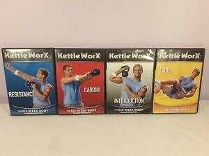 10x KettleWorx DVDs - The Ultimate Body Collection, Six Week Transformation