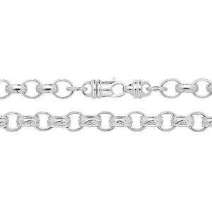 Sterling Silber programmiert Armband-Muster & uni - 27 Gramm g1170
