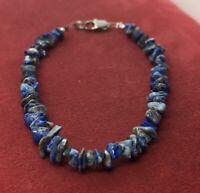 """Vintage Bracelet 8"""" Blue Lapis"""