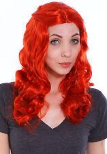 Women's Lady Full Curly Wig Cosplay Party Fancy Dress Red Hair Wavy Long Wigs