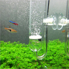 Aquarium CO2 System Diffuser Check Valve U Shaped Glass Tube Bend Accessory DIY