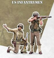 1/35 Resin US Infantryman 2 Soldiers Unassembled Unpainted BL662