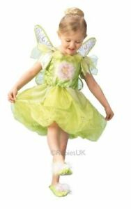 Kids Disney Peter Pan Deluxe Tinkerbell Girls Fancy Dress Costume Childs Outfit