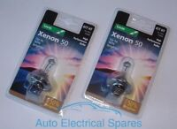 Lucas 477 H7 12v 55w XENON 50 headlight upgrade bulb x 2 ( up to 50% brighter )
