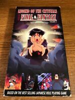 Legends Of The Crystals Final Fantasy VHS VCR Video Movie Used Cartoon RARE