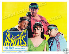 THE THREE STOOGES MEET HERCULES LOBBY SCENE CARD # 2 POSTER 1962 VICKI TRICKETT