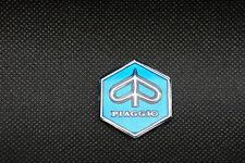 VESPA Piaggio Mini Adhesive Hexagon Badge Blue.