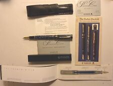 Parker Duofold Centennial Blue Marble 100th Anniversary Fountain Pen