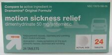 NEW 96-Tablets up&up Motion Sickness Nausea Relief 50mg Dimenhydrinate Dramamine