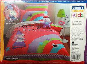 KIDS QUILT COVER SET - FAIRY PRINCESS - LADELLE CUBBY HOUSE