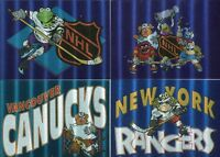 MUPPETS TAKE THE ICE Special Insert Tekchrome Card Set 4 Cards  Cardz 1994