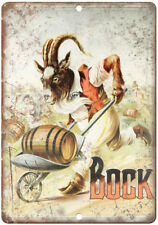 "Bock Beer Man Cave Vintage Ad Décor 10"" x 7"" Reproduction Metal Sign E210"