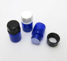 2ML Paint Blue Glass Essential Oil Orifice Reducer & Cap Cosmetic Bottle 100pcs