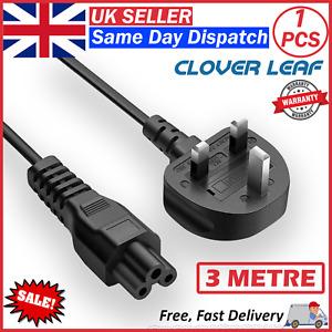 3m C5 Power Cable, Cloverleaf Cord for Laptop/Desktop/Mac UK Power Supply