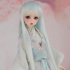 8-9'' 1/3 BJD Doll SD Full Wig Dollfie DZ DOD LUTS Log Straight Green Toy Hair