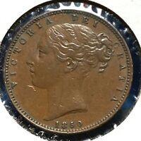 1850 Great Britain Farthing KM# 725 (57770)