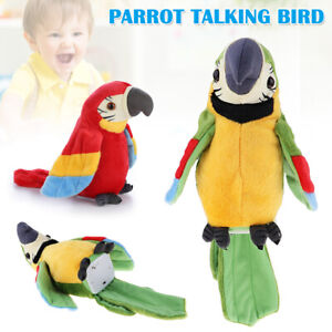 Parrot Talking Bird Toy Electronic Musical Plush Stuffed Toy For Kids Baby AU