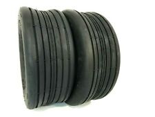 Two 15x6.00-6 Lawn Mowers Rib Tubeless Tires Tractors 4 ply Hay Tedder
