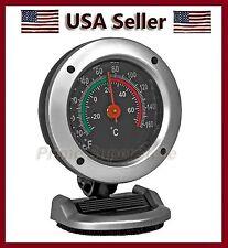 Thermometer  Monitor Indoor Temperature Mini Clock Car/Truck/RV/Boat Temp Gauge