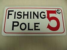 Fishing Pole Sign Metal Bait Rapala Vintage Tackle Box