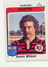 Scanlens 1980 Rugby League #23 Kevin Wilson