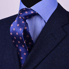 """Linked Squares Blue 3"""" Inch 9 Wide Tie Classy Business Dress Fashion for Shirts"""