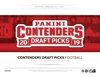 2019 Panini Contenders Draft Football Cards (Base and Inserts) Pick From List