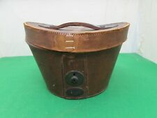Vintage Black Felt  Wilson & Stafford Top Hat In Fitted Leather Carry Case