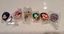 Lot of 6 Disney Balloon Pins WDW Cast Member Exclusive NEW Mickey Minnie Pluto