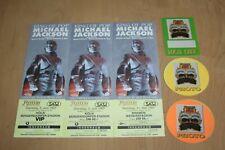 Michael Jackson - 3x Unused Concert Tickets + 3 unused Backstage Passes