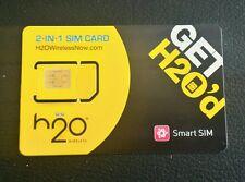 H2O Wireless REGULAR/MICRO SIM Card FREE 1ST MONTH $35 Plan Preloaded Prefunded