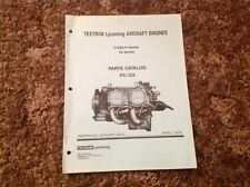 Textron Lycoming PC-122 Parts Catalog for O-320-H Aircraft Engines