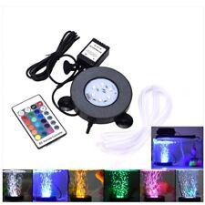 NEW RGB LED Light Submersible Air Bubble Lamp Aquarium Fish Tank Remote Control