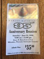 HARLEY-DAVIDSON 95th Anniversary 1998 Milwaukee, WI Reunion Event TICKET STUB