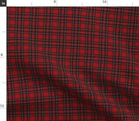 Royal Tartan Plaid Red Scottish Highlands Spoonflower Fabric by the Yard