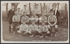 More details for totton postcard. totton bible class football club team 1909 unused real photo pc