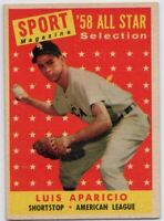 1958 Topps #483 Luis Aparicio VG-EX Chicago White Sox FREE SHIPPING