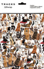 Dog Lovers Gift Wrap Wrapping Paper Birthday 2 Sheets Tags Pug Scottie Beagle