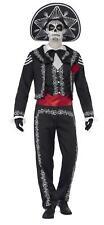 Men's Day of The Dead Senor Bones Costume Skeleton Fancy Dress 01- 43738 Medium