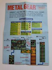 Metal Gear NES Map Insert ONLY Authentic RARE Konami Nintendo Kojima