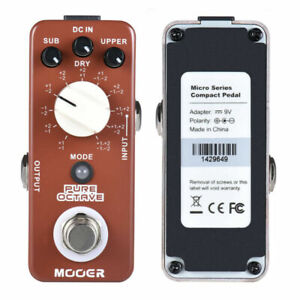 MOOER PURE Octave Electric Guitar Bass Effects Pedal Ultra Sound Loss 11 Modes