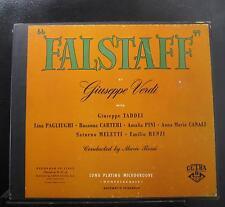 Mario Rossi, Verdi - Falstaff 3 LP VG+ 50.025 Mono 1952 1st USA Vinyl Record