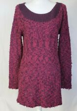 Soft Surroundings Purple Pink Tunic Sweater Medium