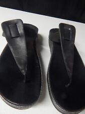 732da32cb3592 FITFLOP Ibiza Womens 10 Black Leather Slide Thong Flip Flop Sandal wedge